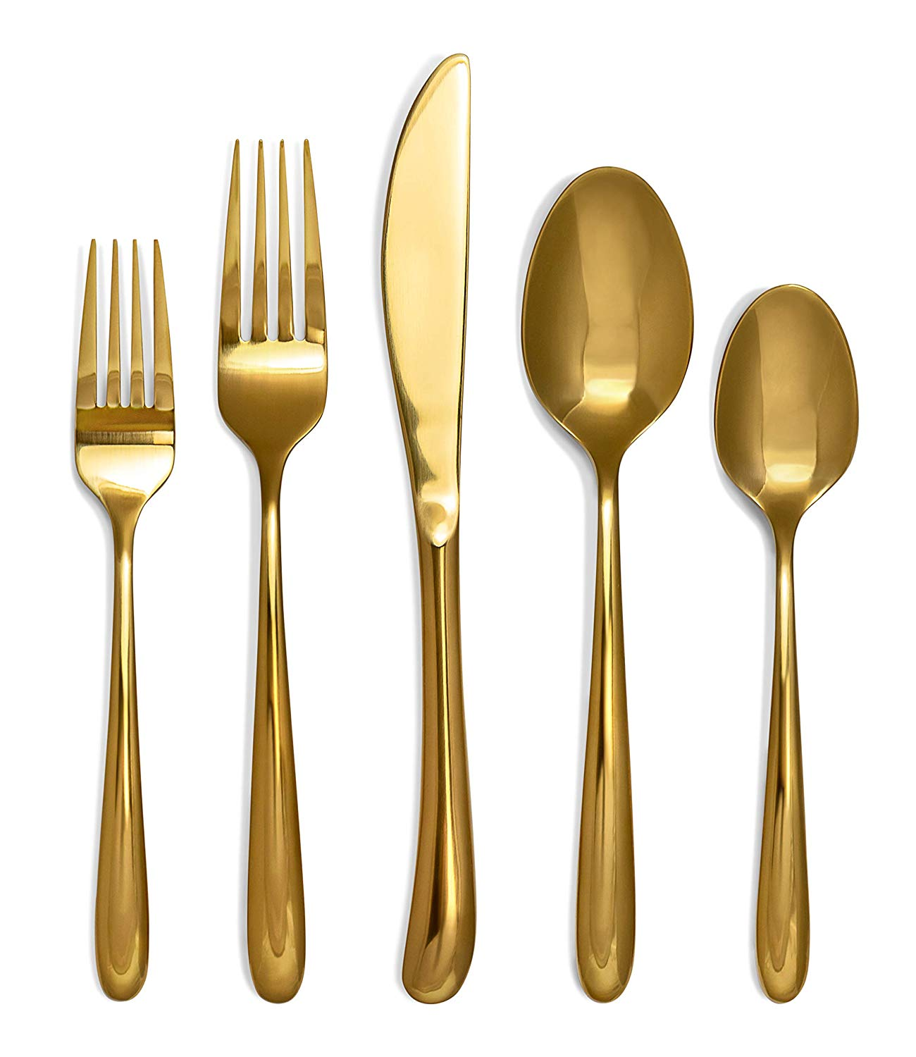 Craft  Kin Flatware Set Hand Forged Gold Silverware Set Classic Heirloom Luxury Gold Flatware  Premium Quality Gold Dipped Pure Stainless Steel Cutlery Set Dinnerware Set 20 pc Set for 4
