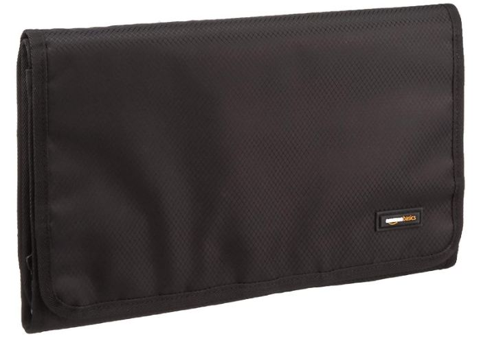 Amazon Basics Beauty And Toiletry Organizer Travel Bag with Hanging Hook